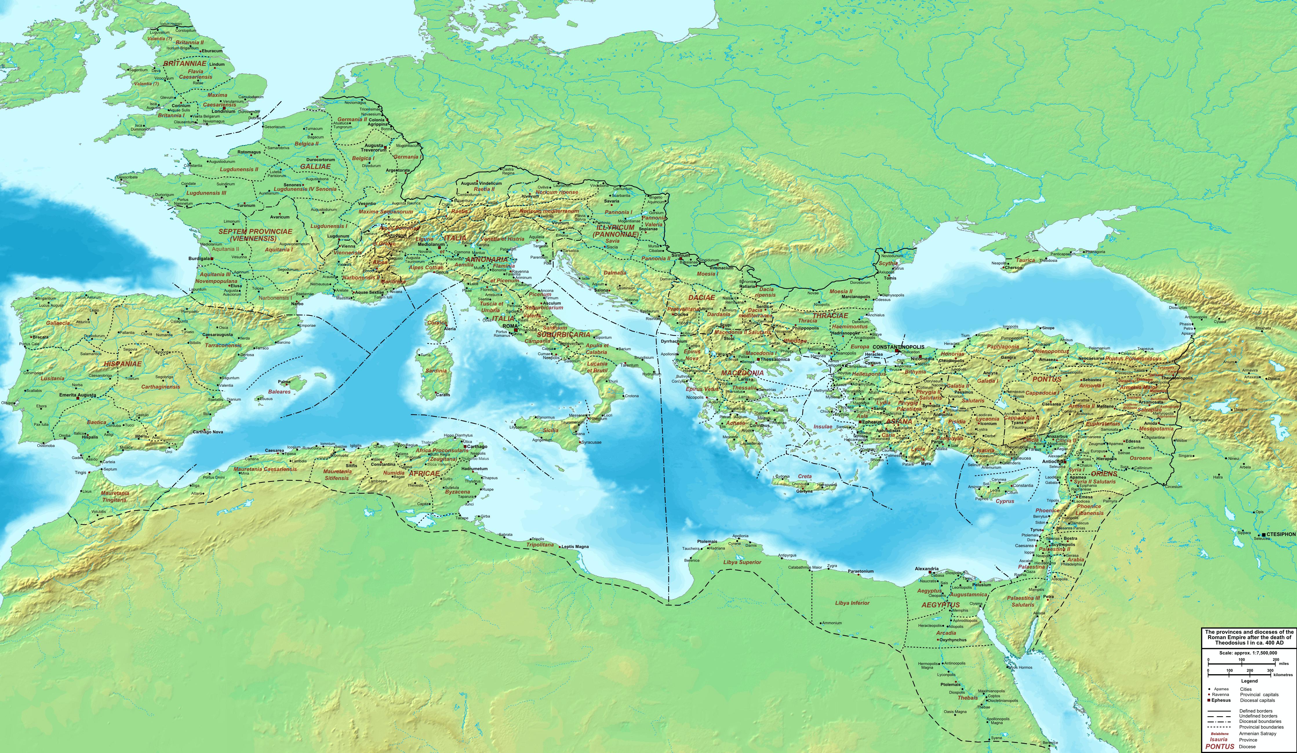 El Imperio Romano 400 dC