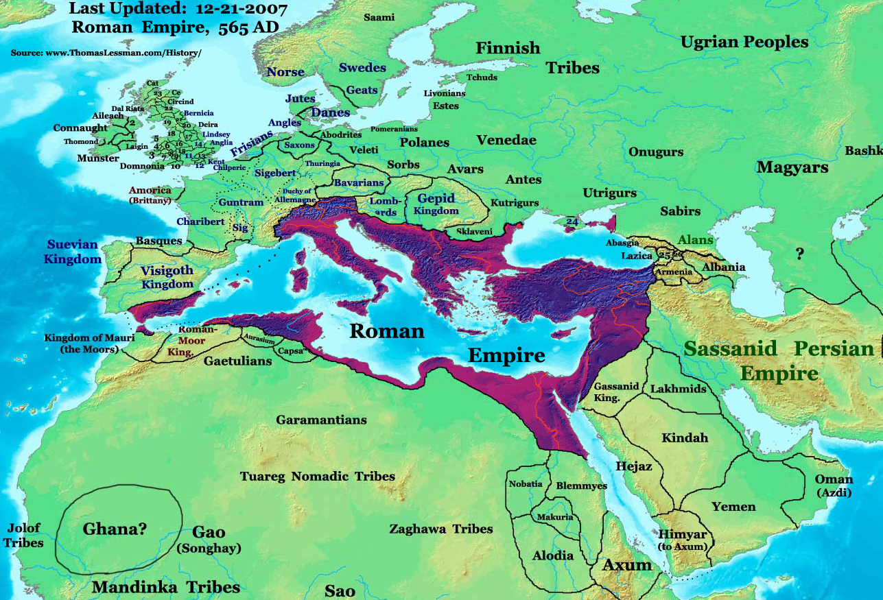El Imperio Romano de Oriente 565
