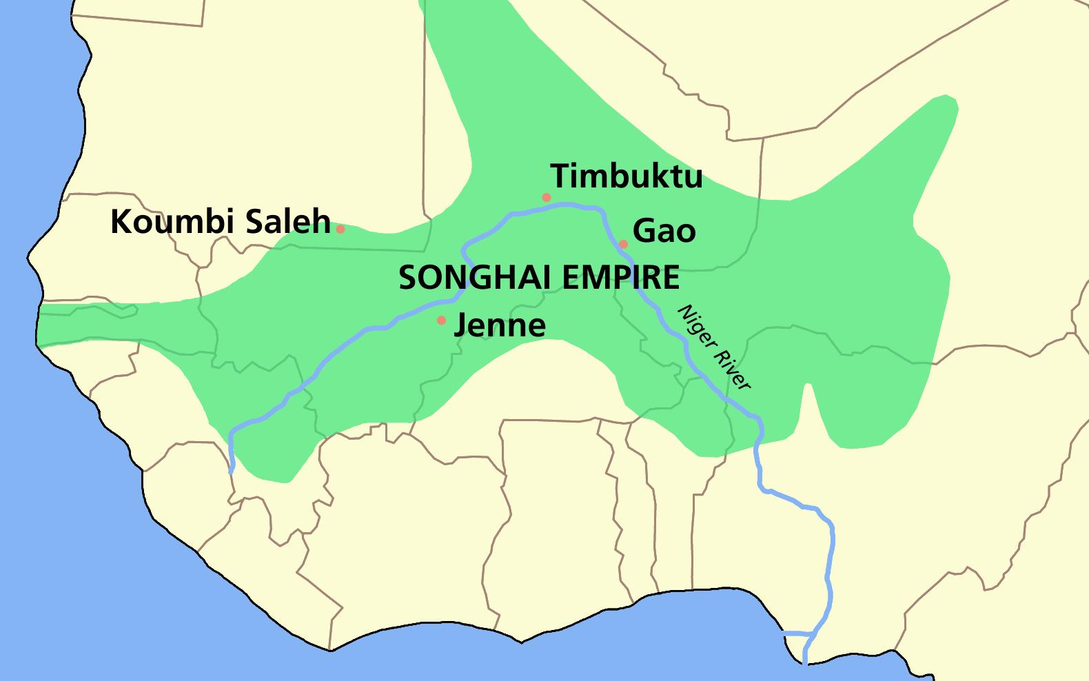 El Imperio Songhay c. 1340–1591