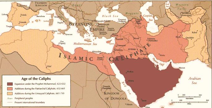 El Imperio Árabe 622-750
