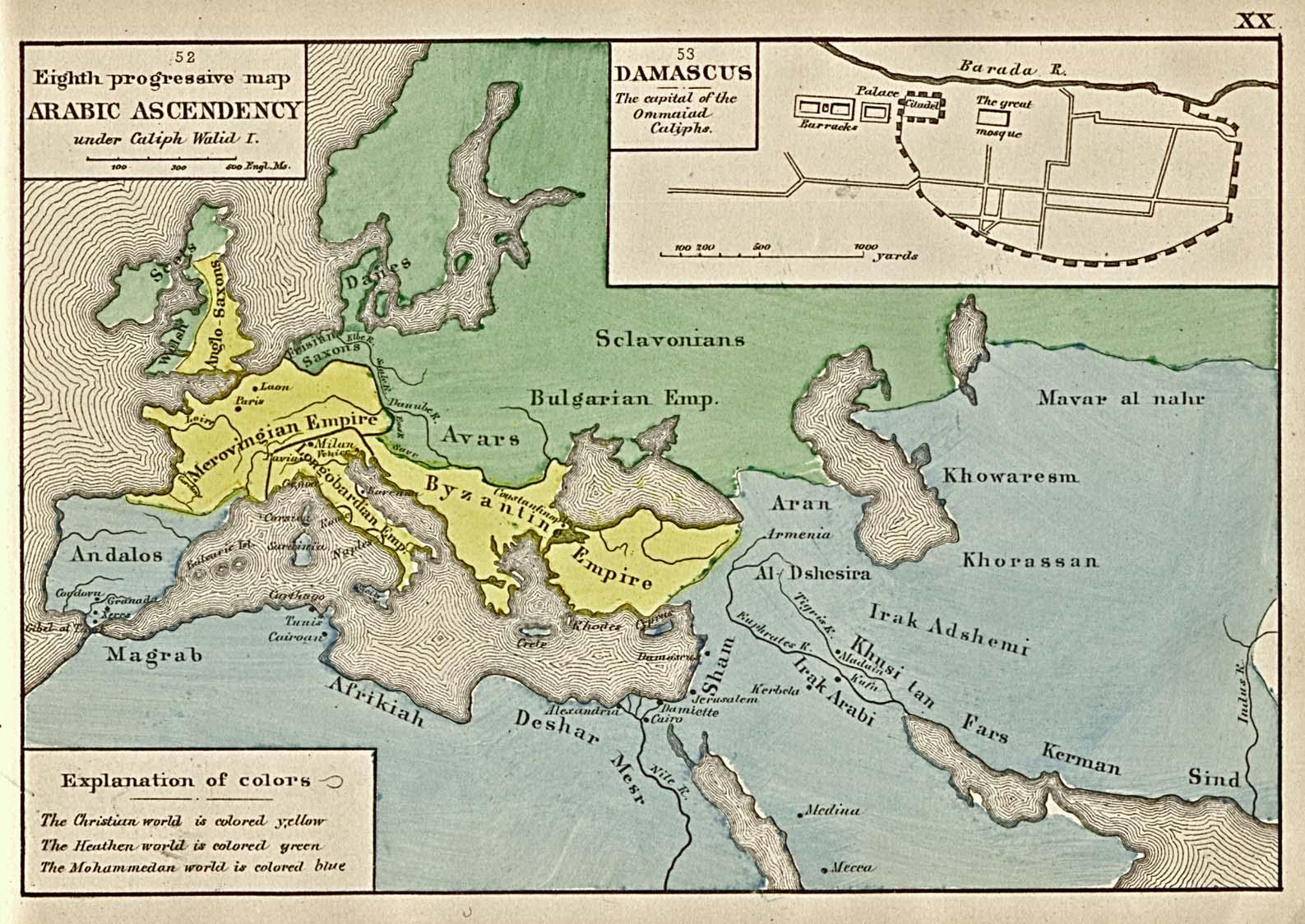 El Imperio árabe en su apogeo, siglo VIII