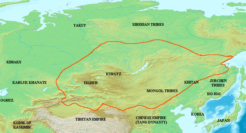 Uyghur Khaganate circa 820