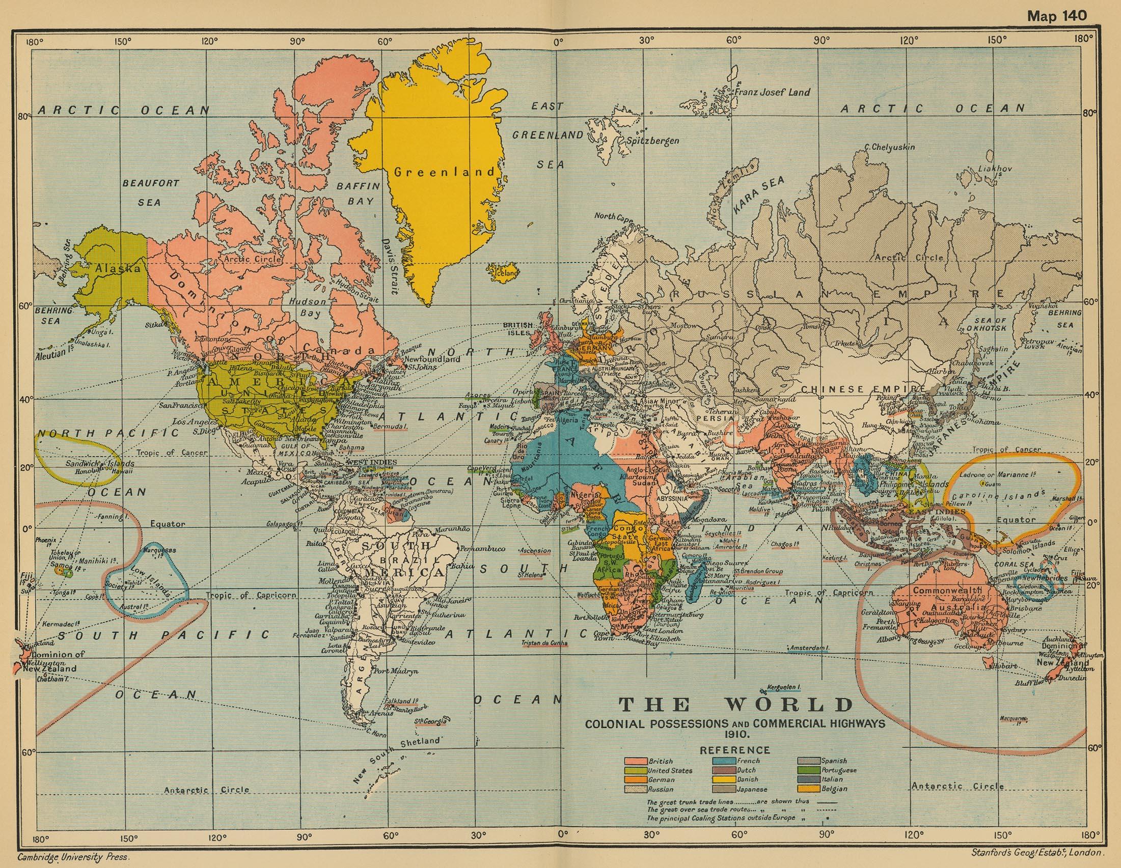 El Mundo en 1910