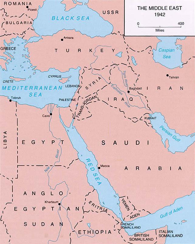 El Oriente Medio en 1942