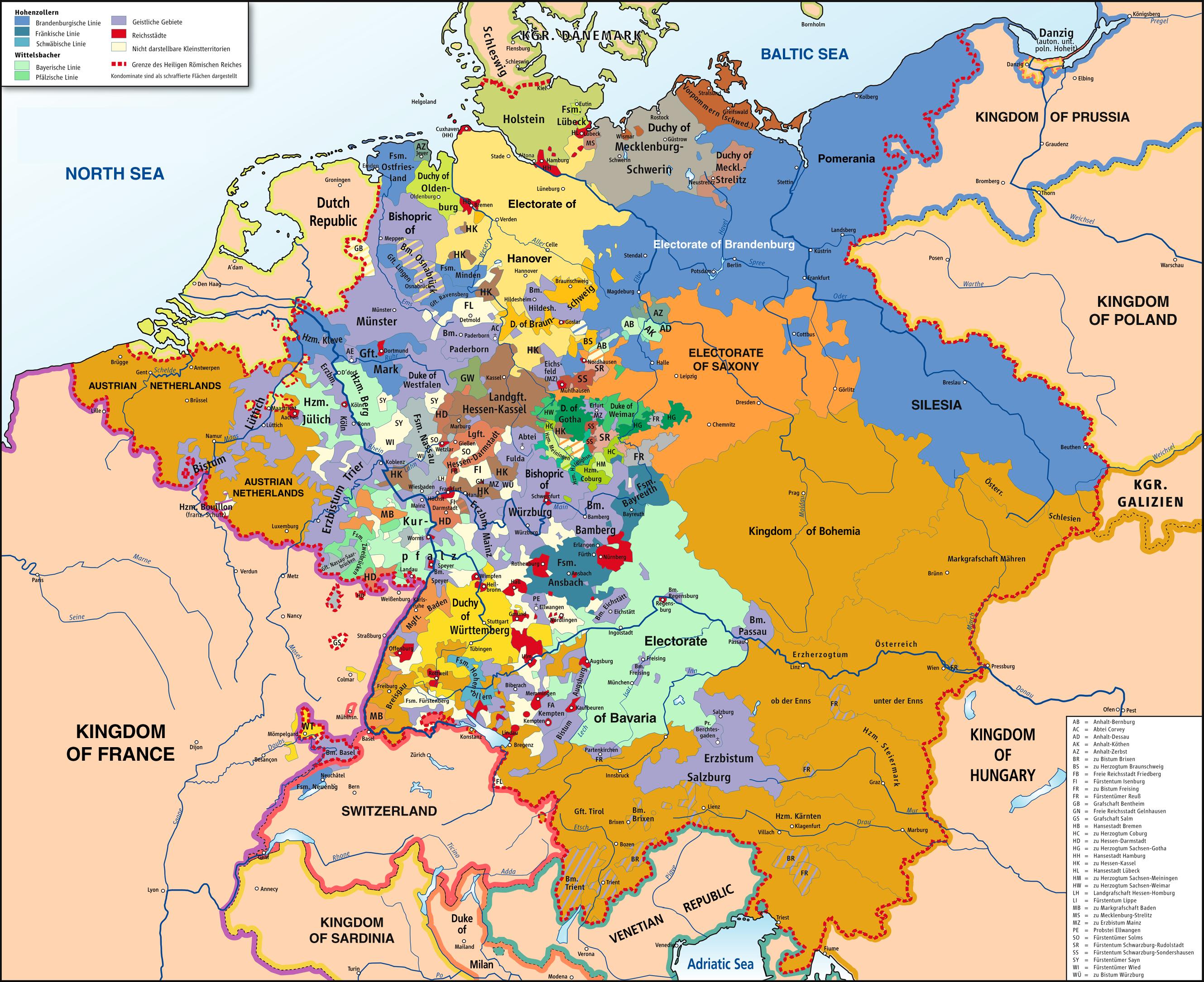 El Sacro Imperio Romano Germánico 1789