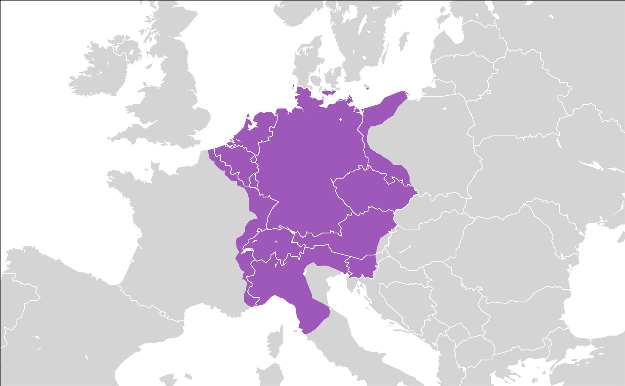 El Sacro Imperio Romano Germánico circa 1600