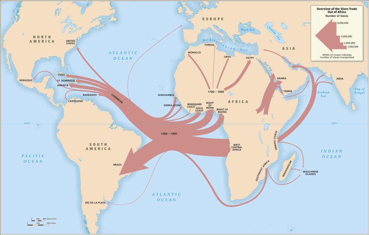 Atlantic slave trade 1500-1900