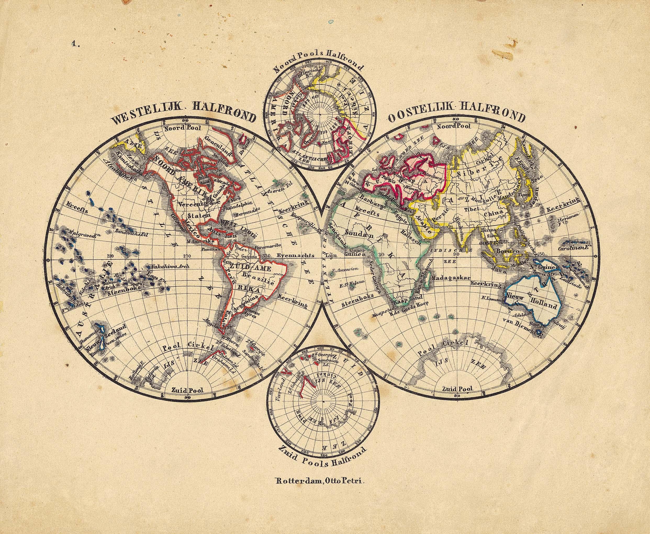 World map 1860