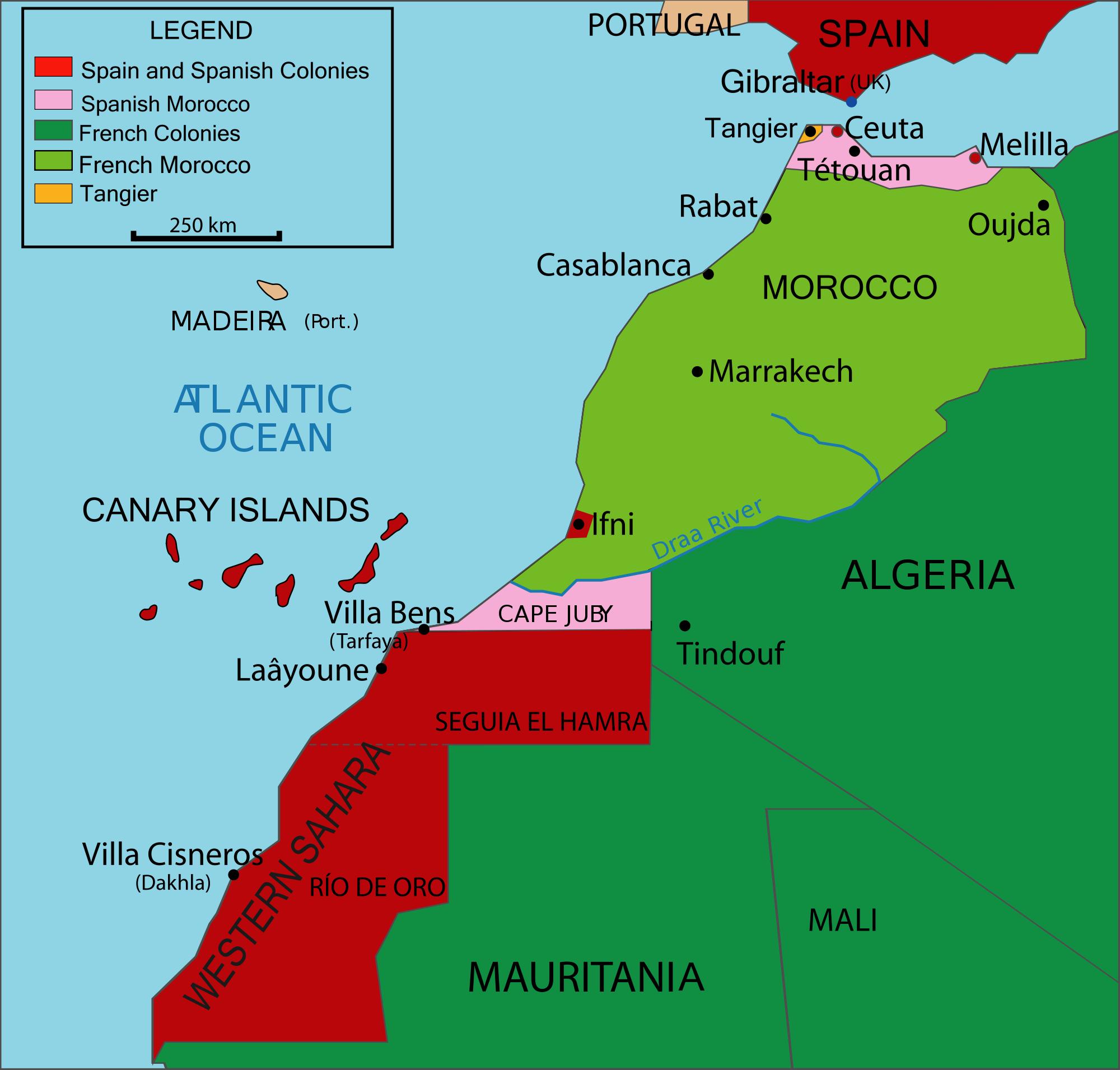 El noroeste de África en 1912