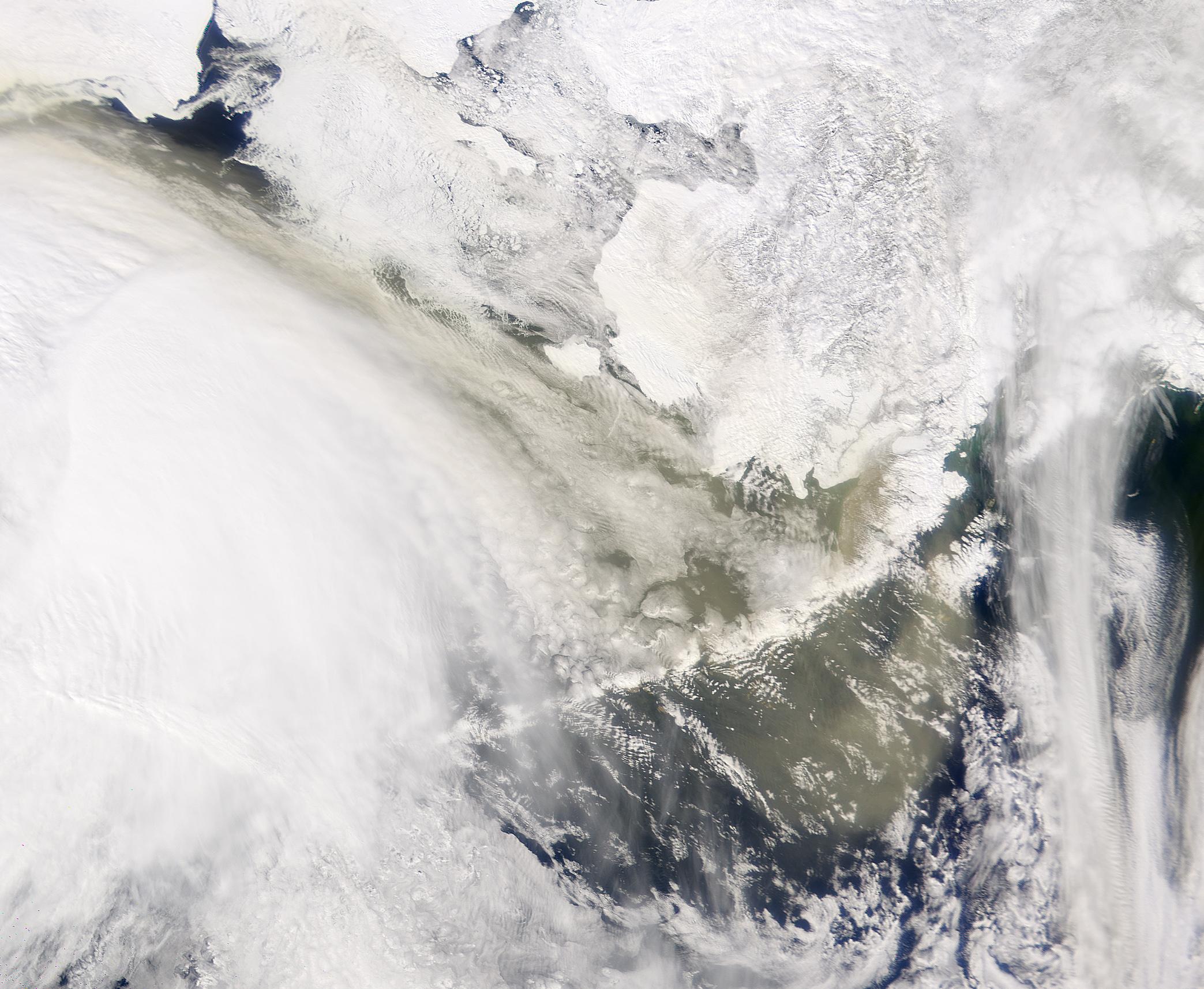 El polvo de Asia alcanza Alaska