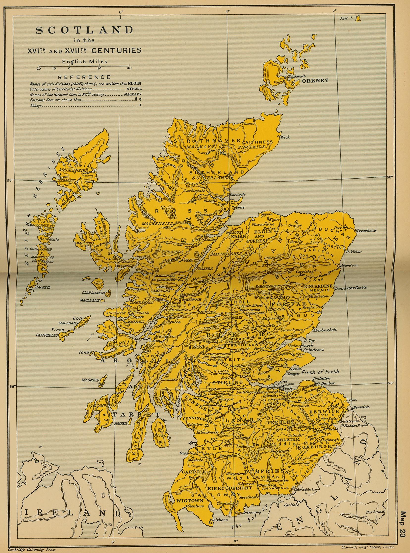 Escocia en los siglos XVI y XVII
