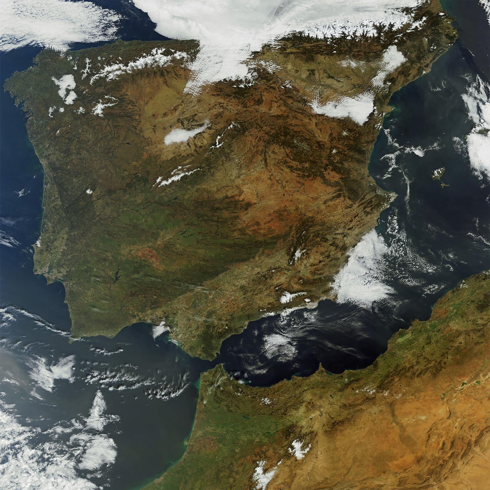 España y el norte de Marruecos, 29 de marzo 2009