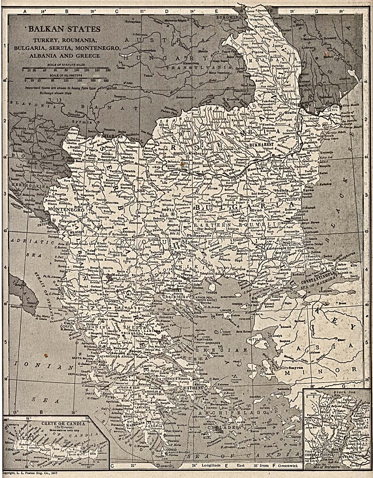 Estados Balcánicos en 1917