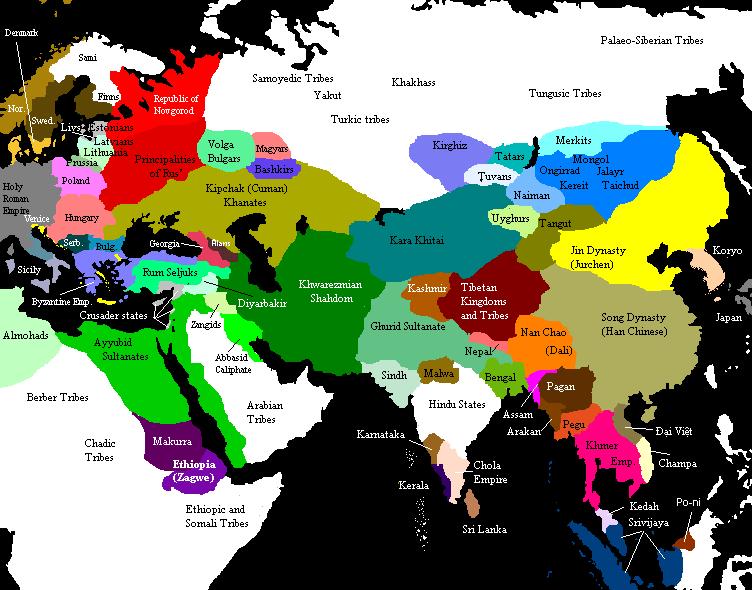 Eurasia en 1200