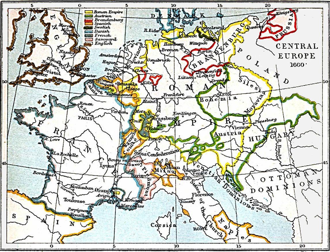 Europa Central 1660 A.D.