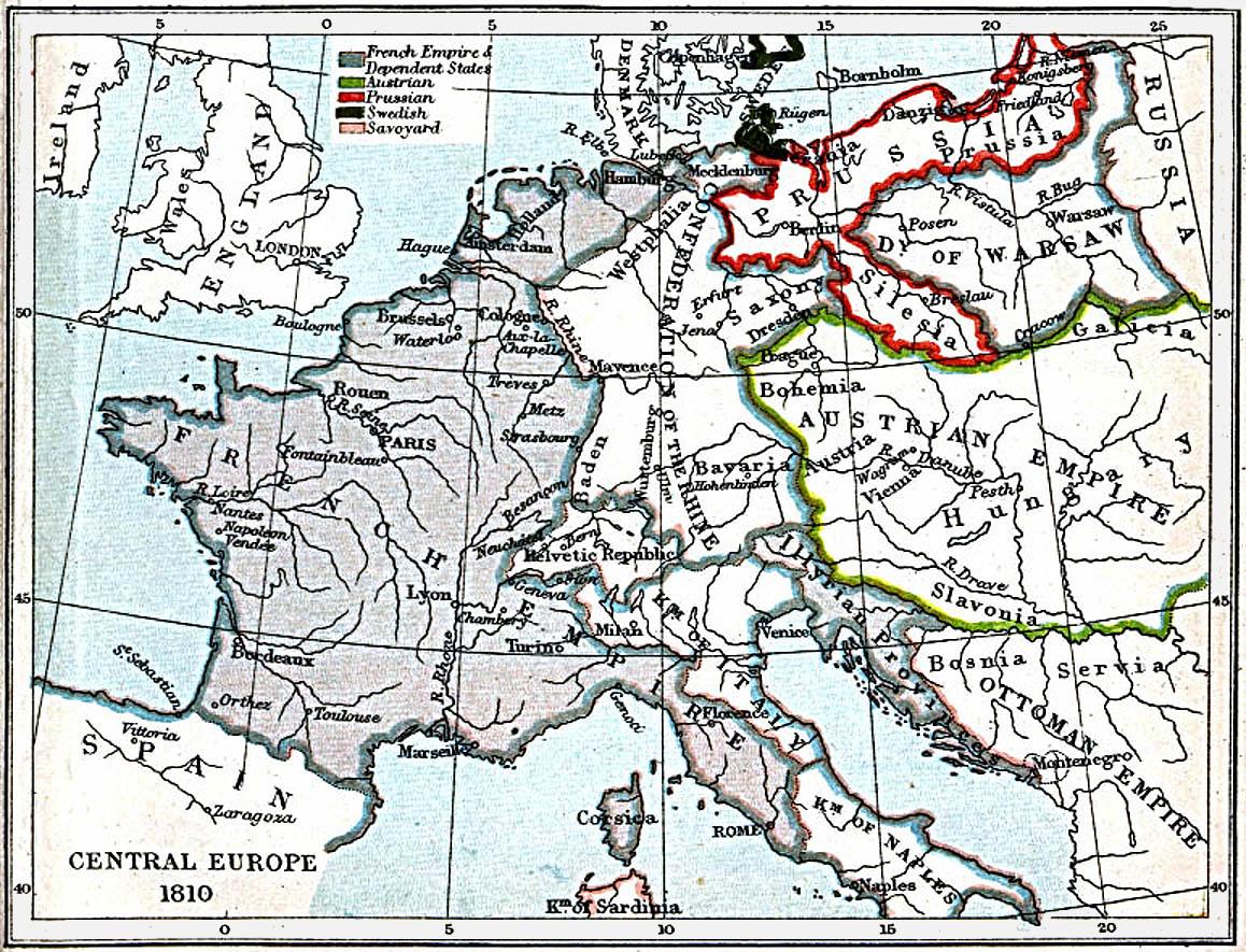 Europa Central 1810 A.D.