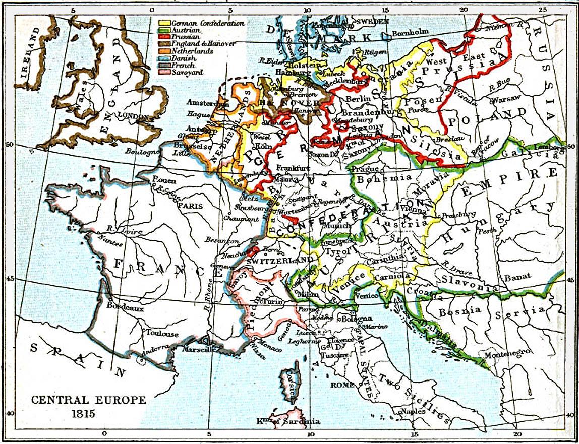 Europa Central 1815 A.D.