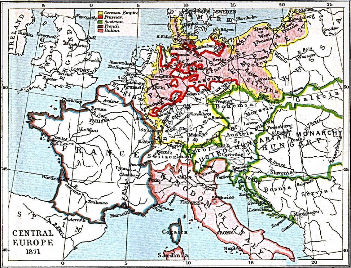 Europa Central 1871 A.D.
