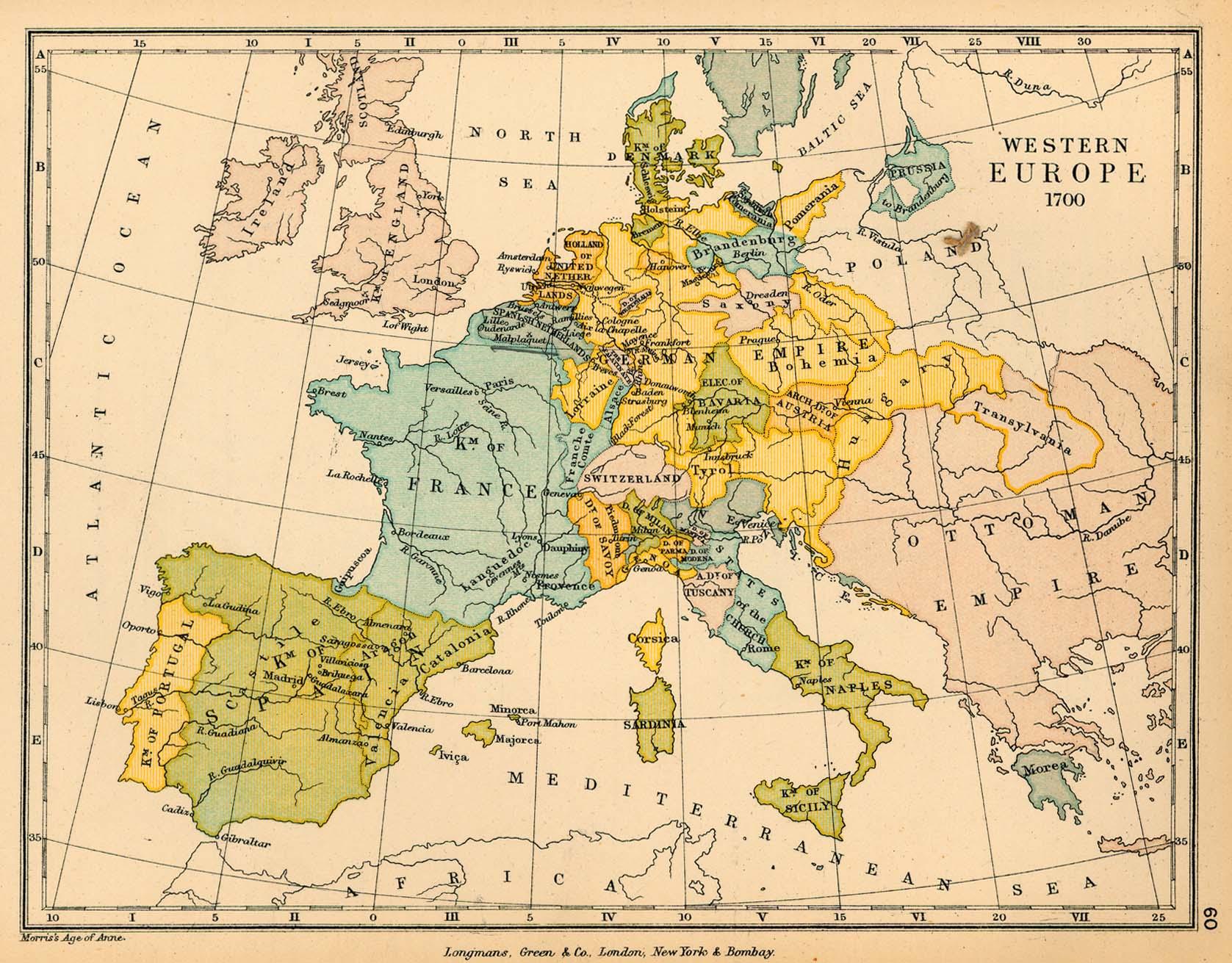 Europa Occidental en 1700