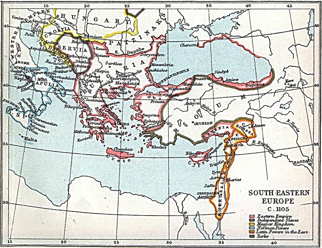 Europa Suroriental 1105 A.D.