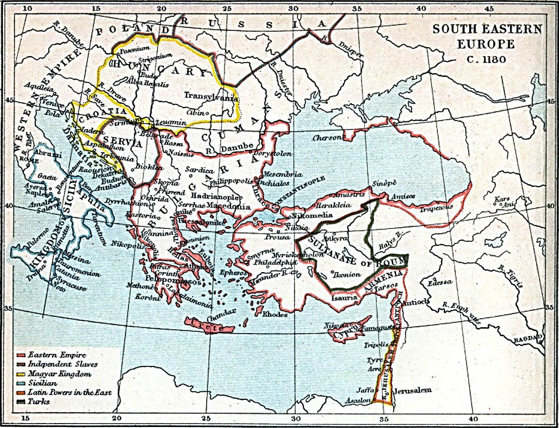Europa Suroriental 1180 A.D.