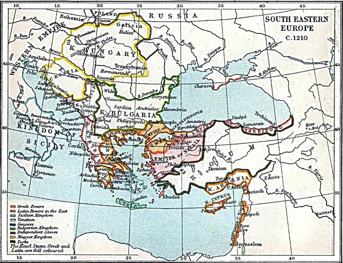 Europa Suroriental 1210 A.D.