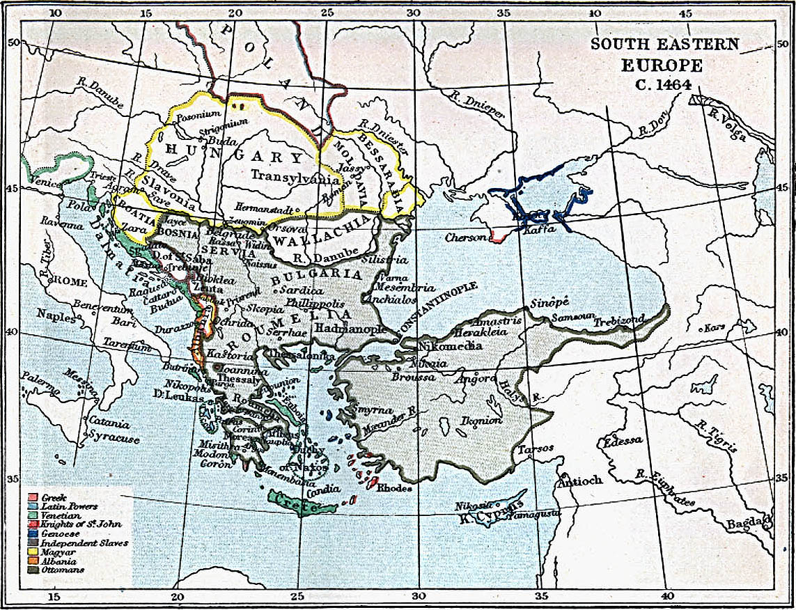 Europa Suroriental 1464 A.D.