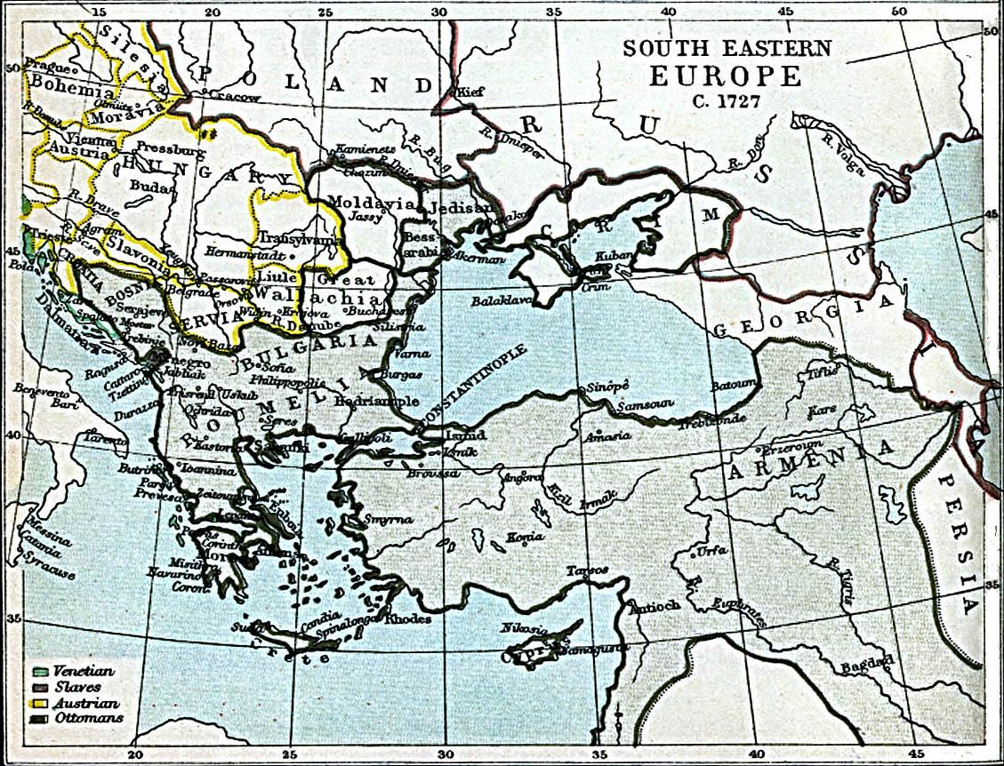 Europa Suroriental 1727 A.D.