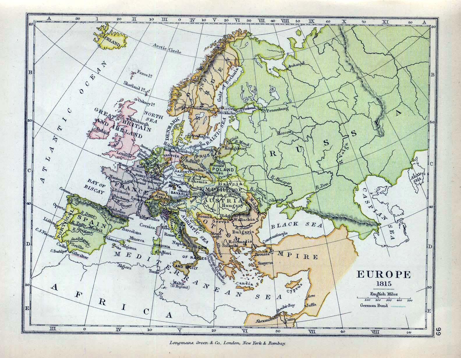Europa despues del Congreso de Viena 1815
