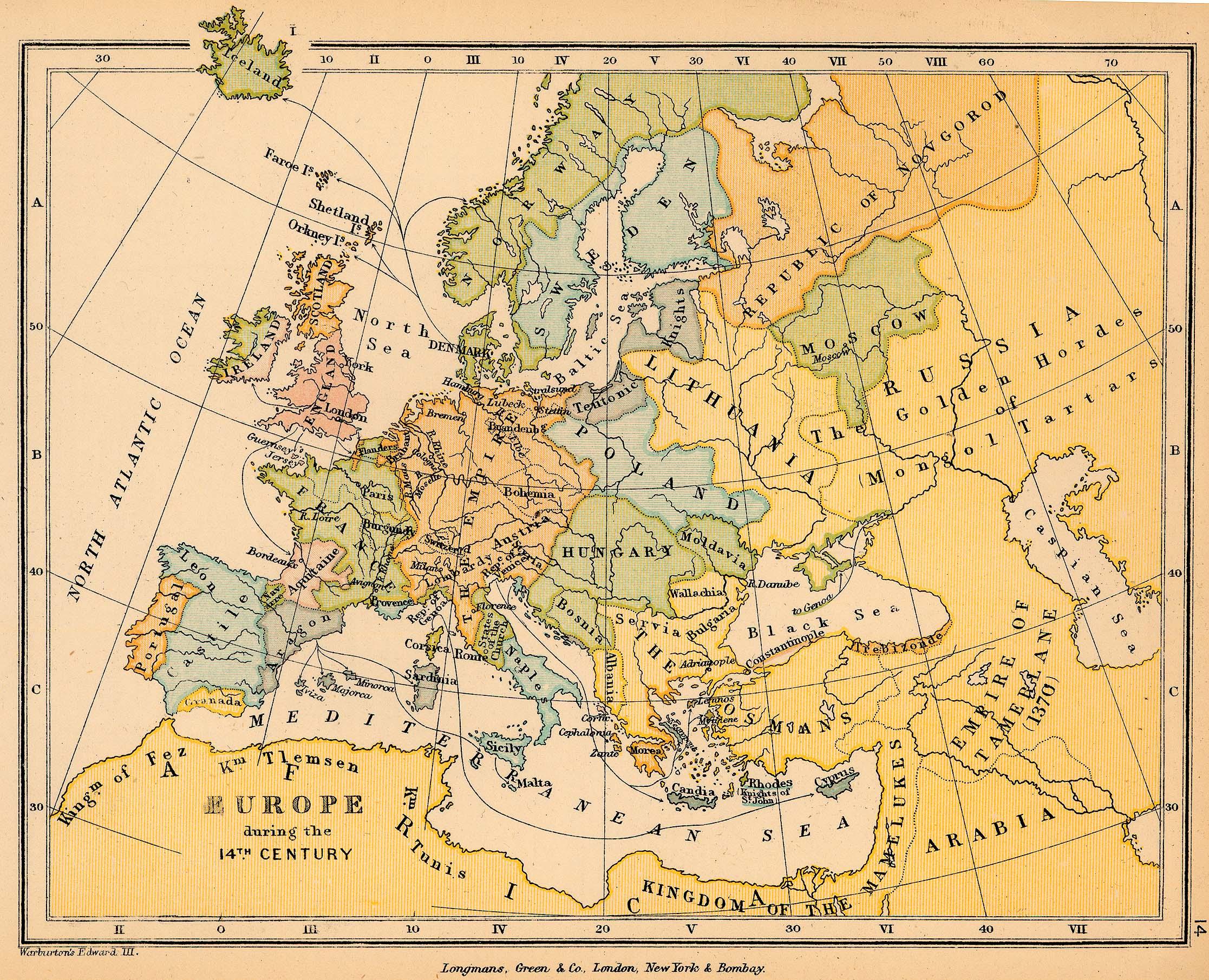 Europa durante el siglo XIV