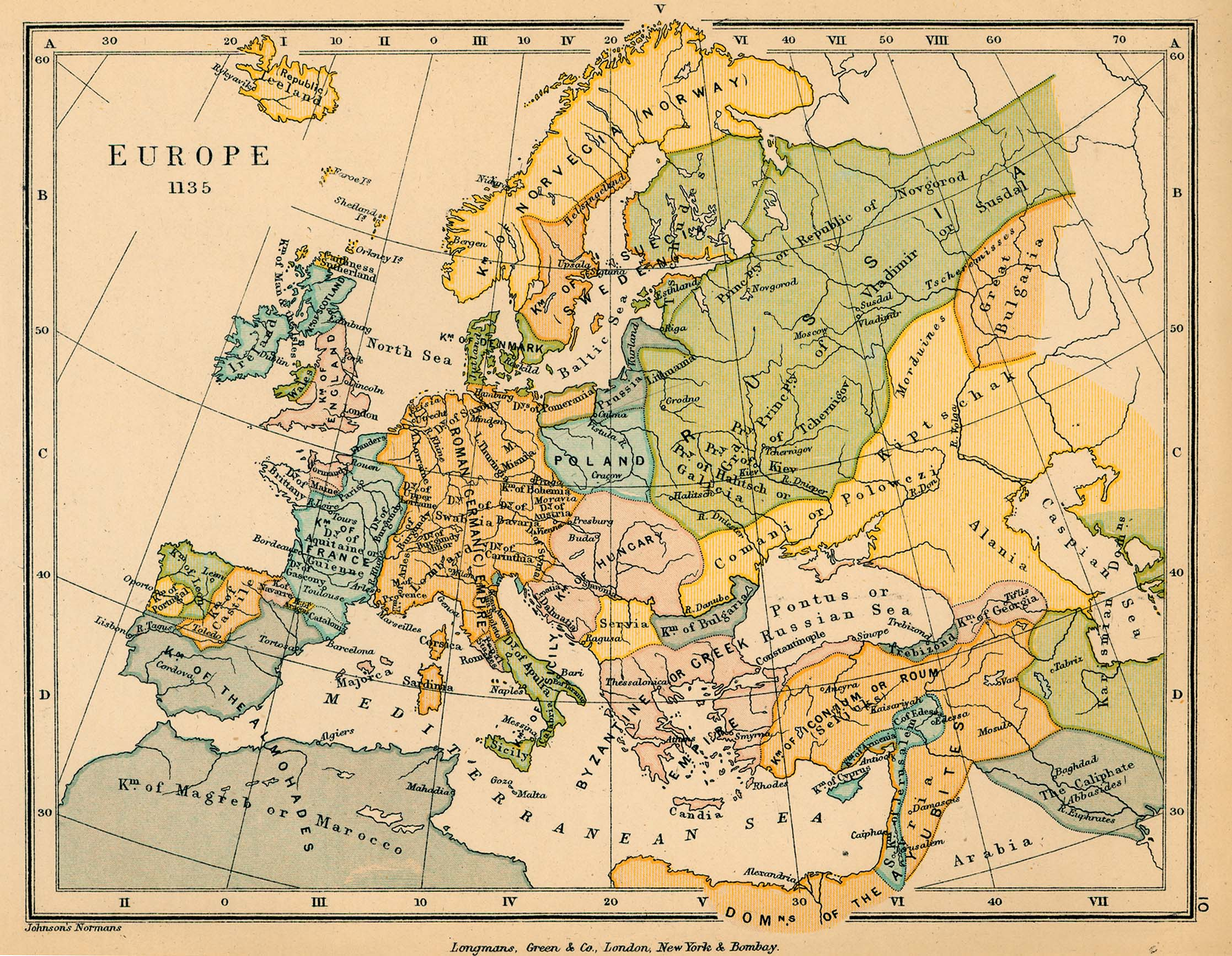Europe in 1135