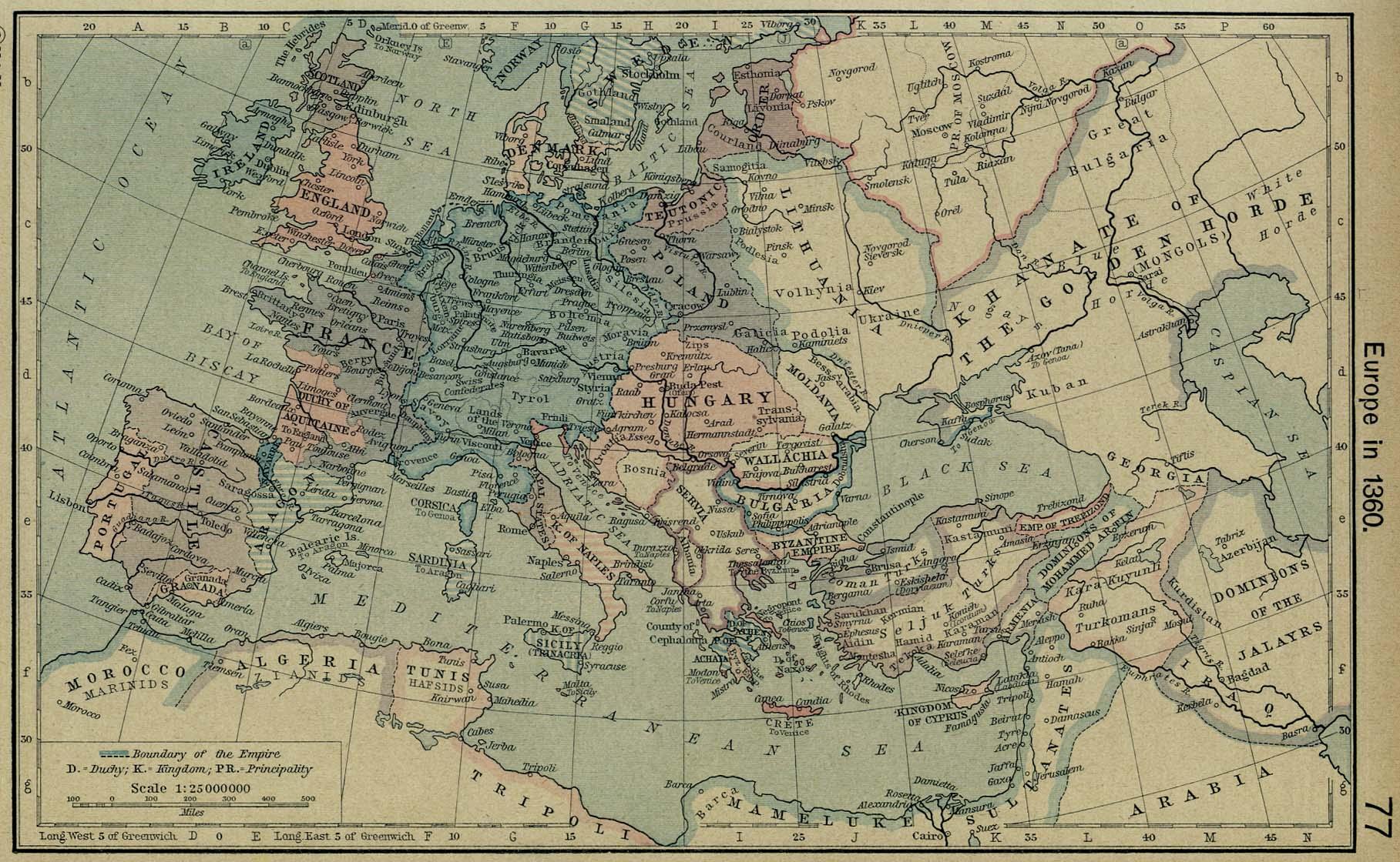 Europa en 1360
