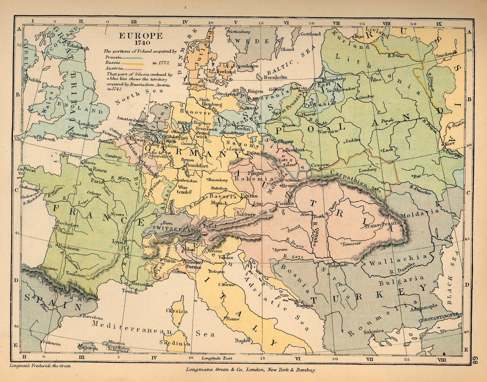 Europa en 1740