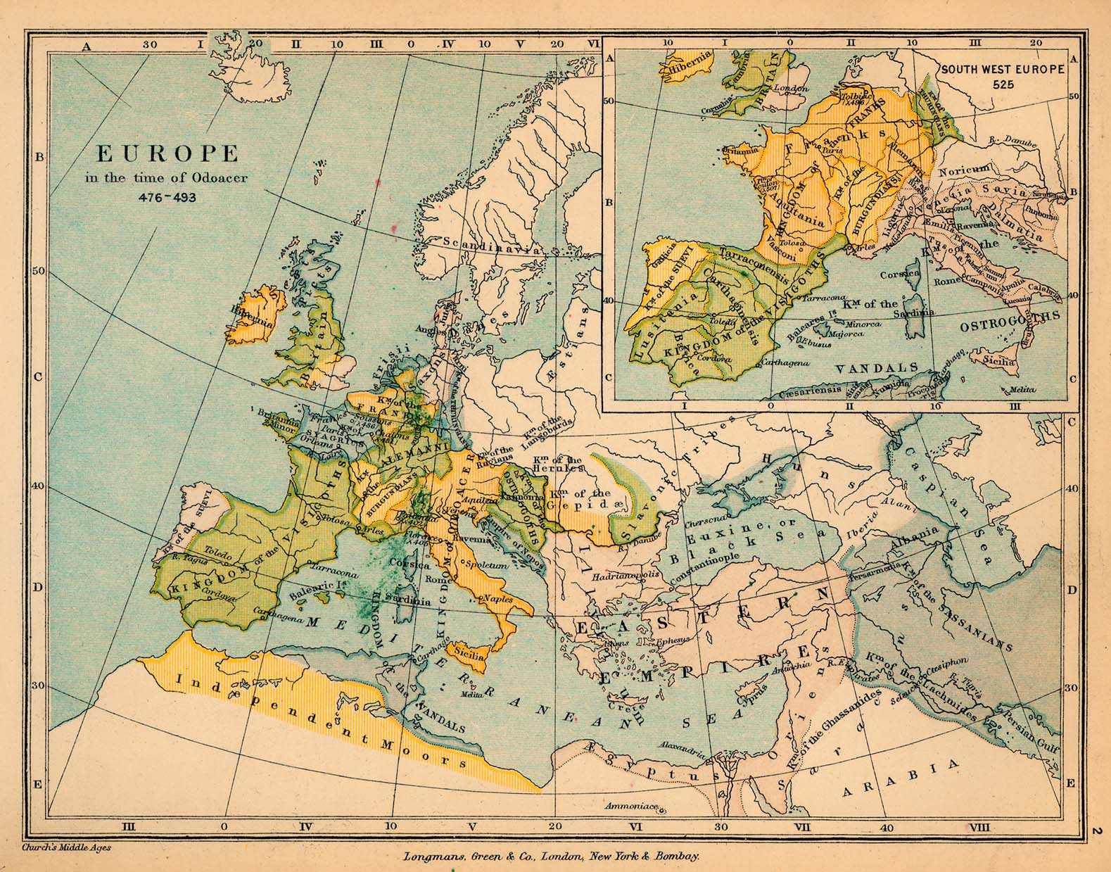 Europe in the time of Odoacer, 476-493