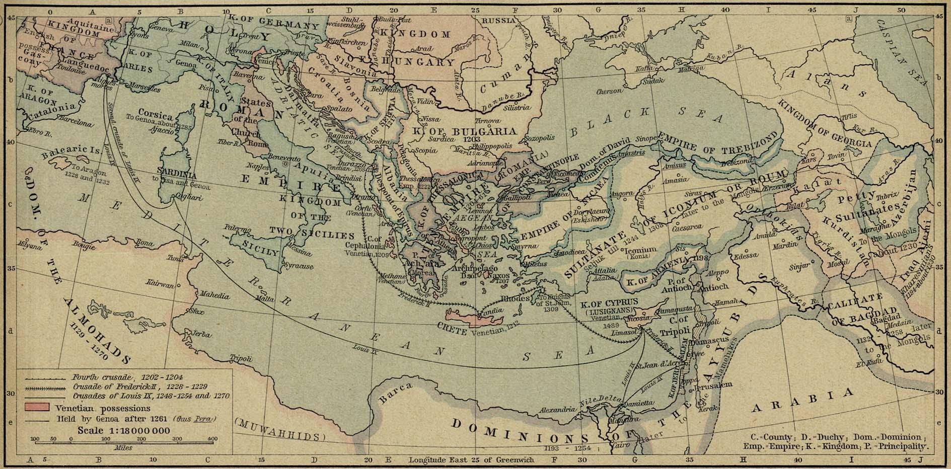 Europa y las Tierras Mediterráneas despues de 1204