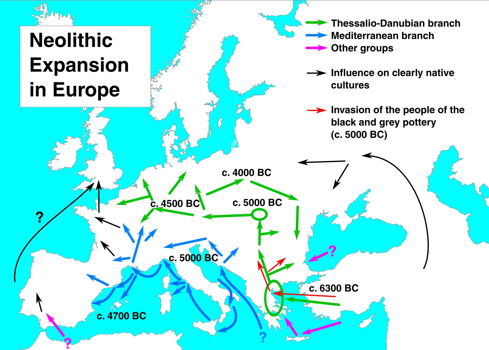 Expansión neolítica en Europa 6300-4000 aC