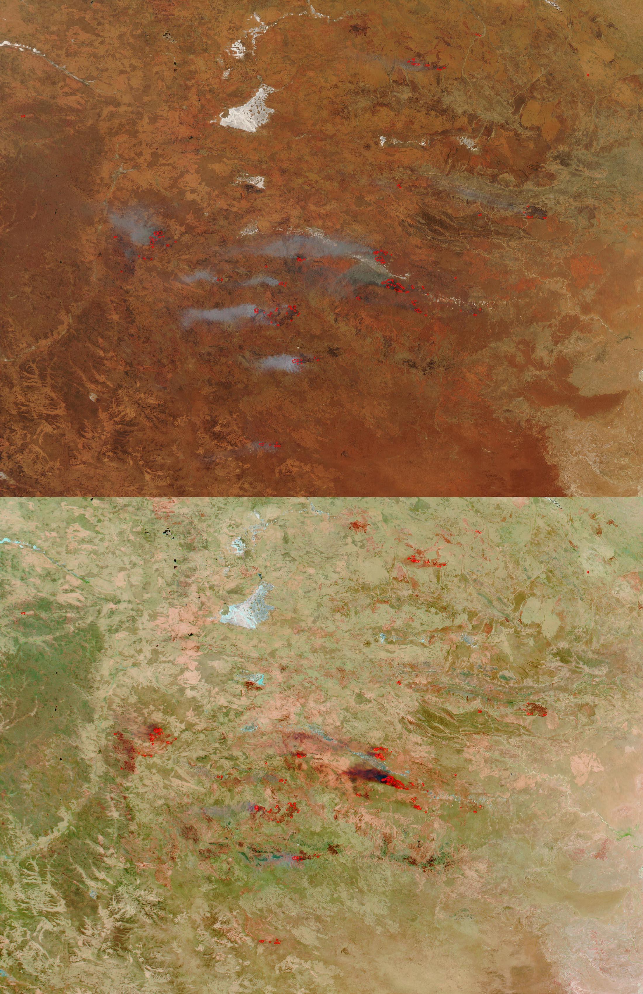 Large Bushfires in Central Australia