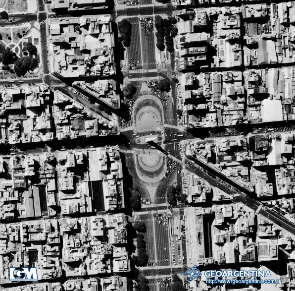 Aerial Photo of Buenos Aires Obelisk, Argentina