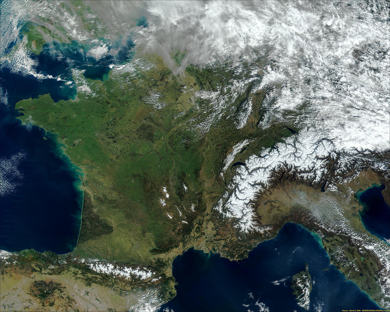 Francia de MODIS