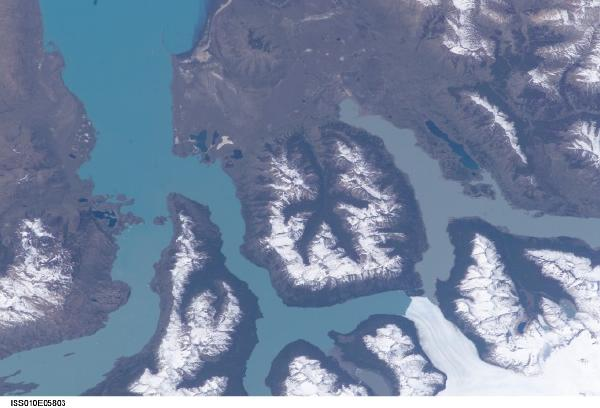 Satellite Image, Photo of Moreno Glacier, Argentina