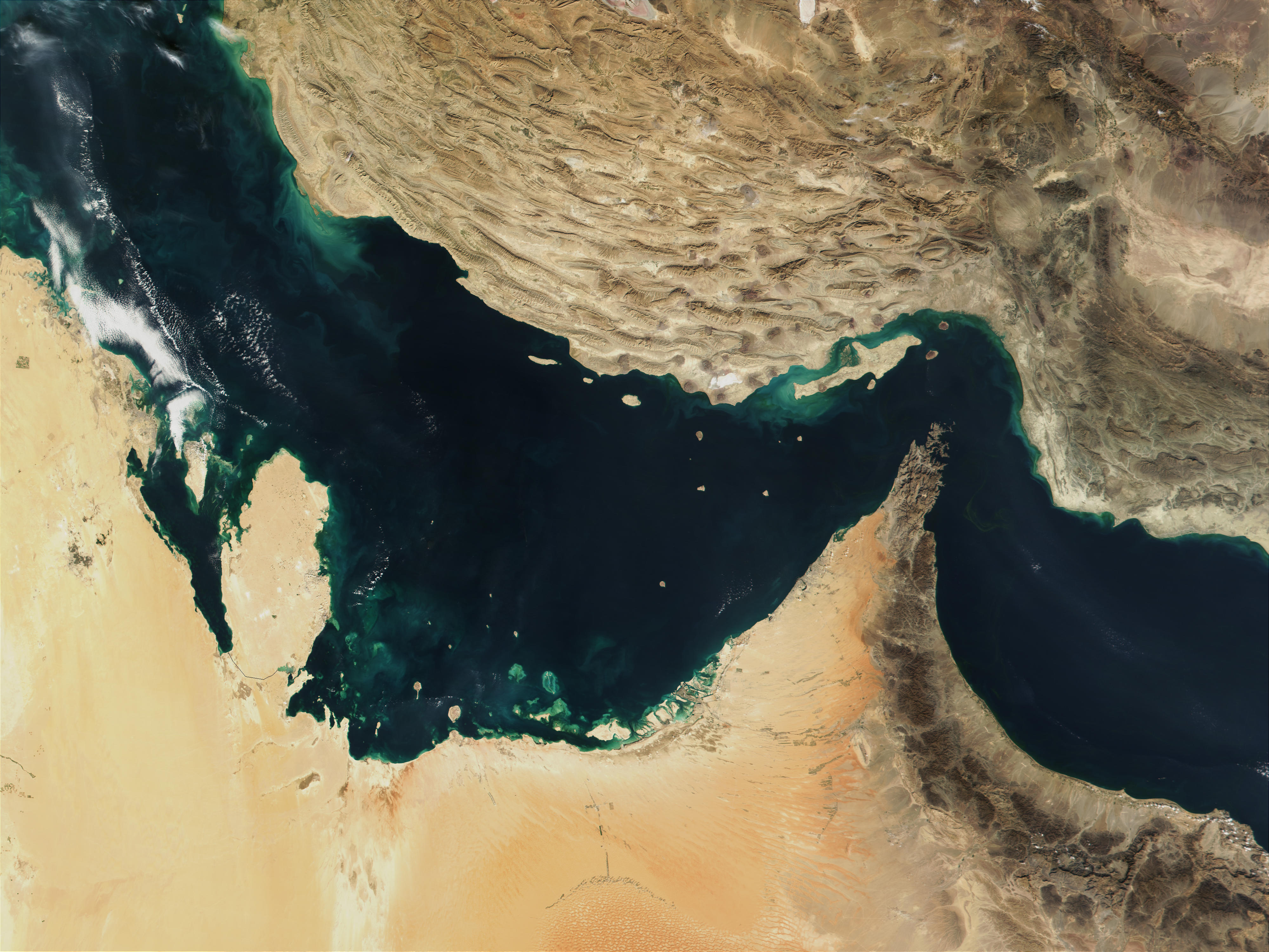 Golfo Pérsico y golfo de Omán