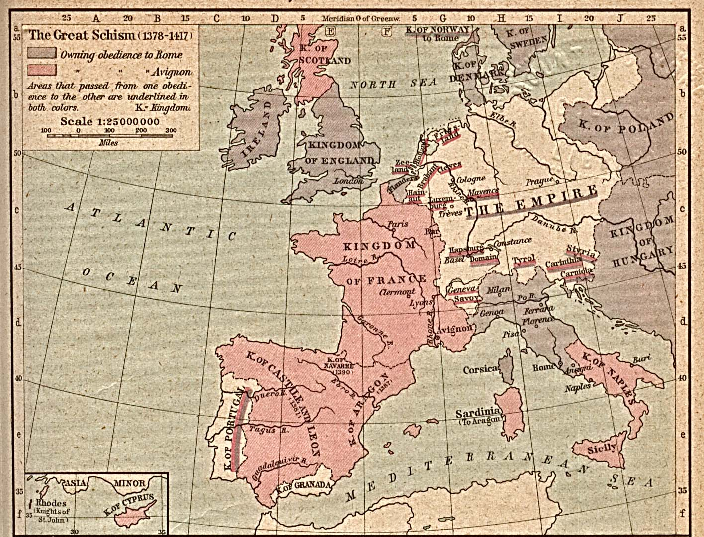 The Great Schism of Western Christianity 1378-1417