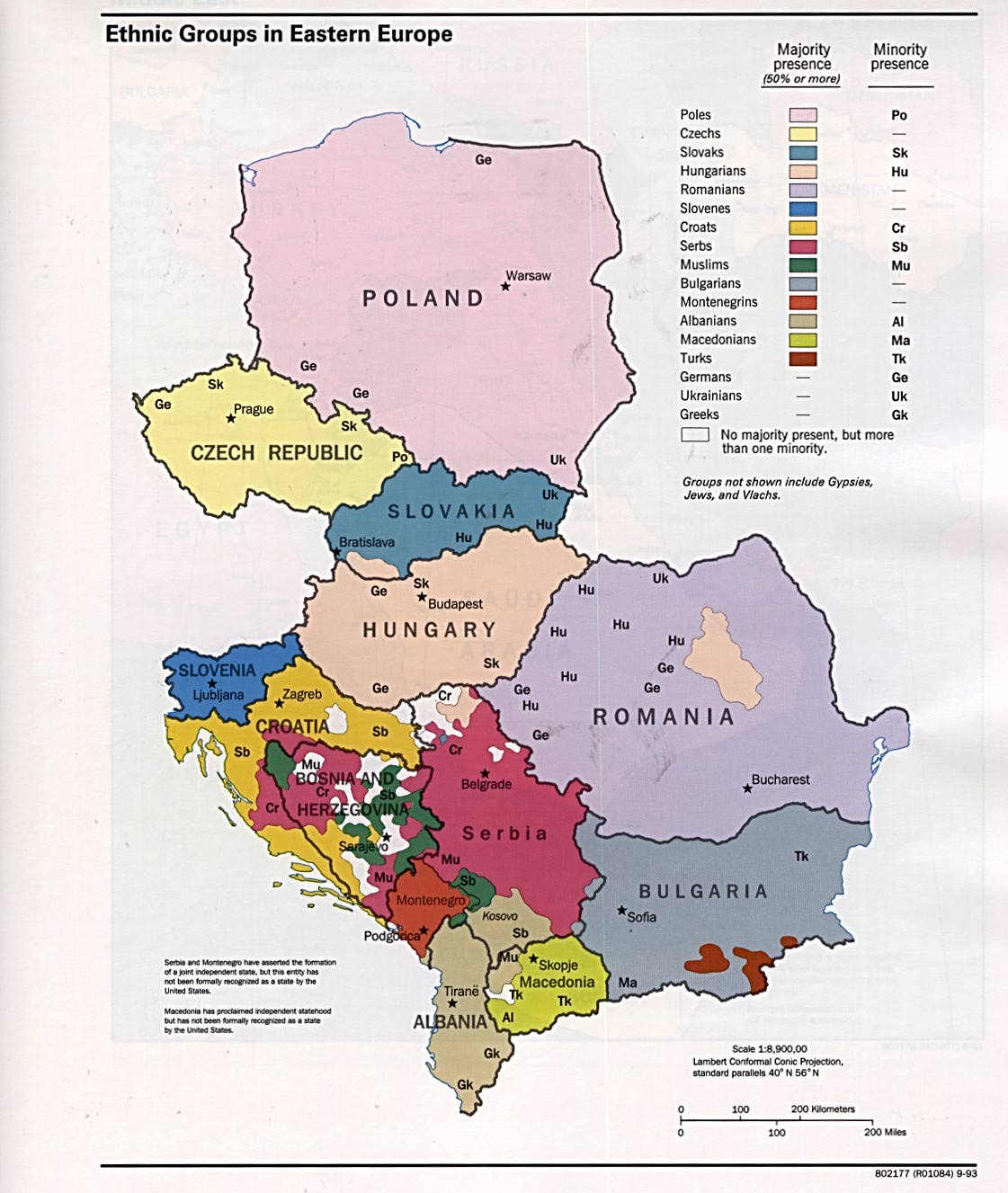 Ethnic groups in Eastern Europe 1993