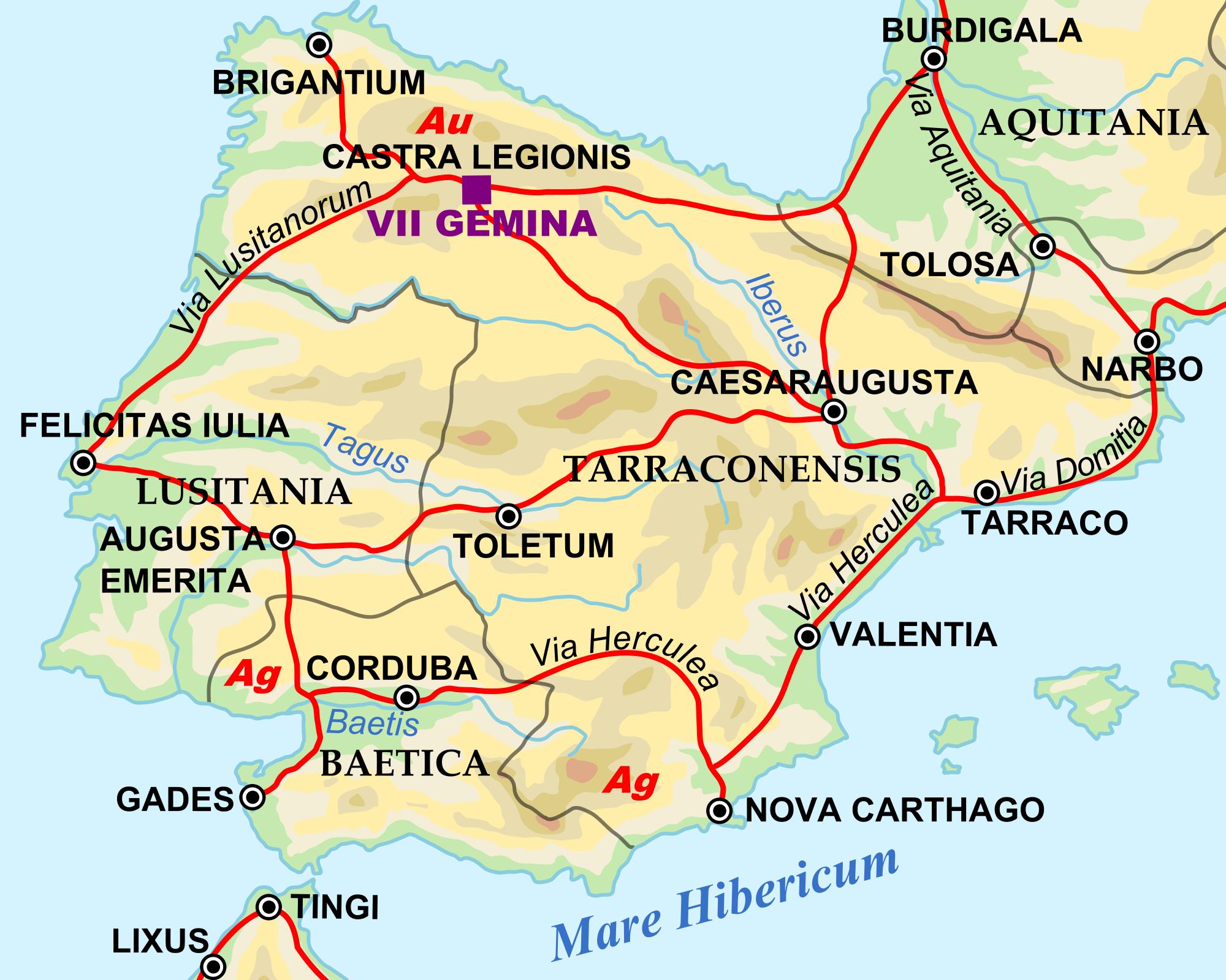Hispania en tiempos de Adriano, 125 dC