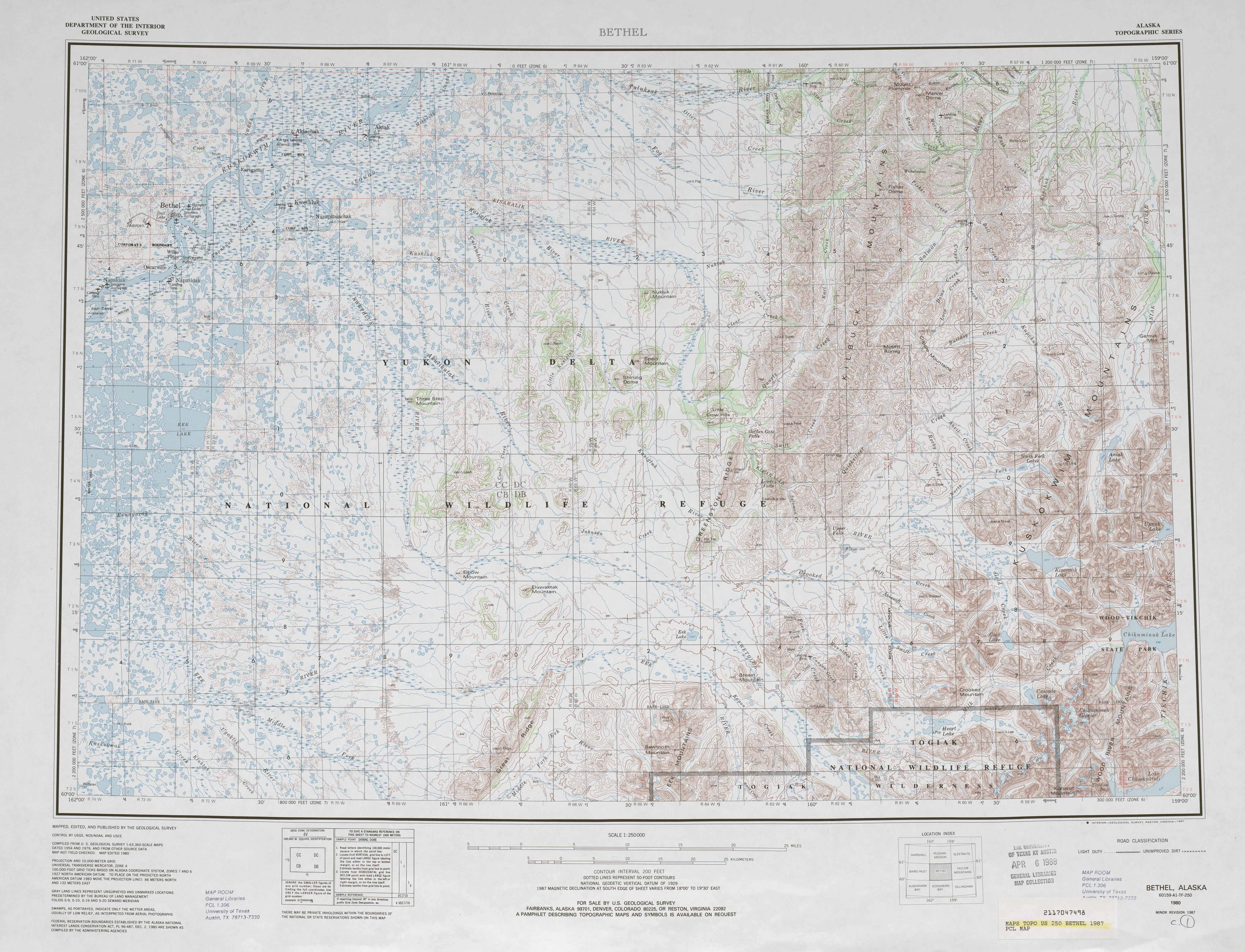 Hoja Bethel del Mapa Topográfico de los Estados Unidos 1987