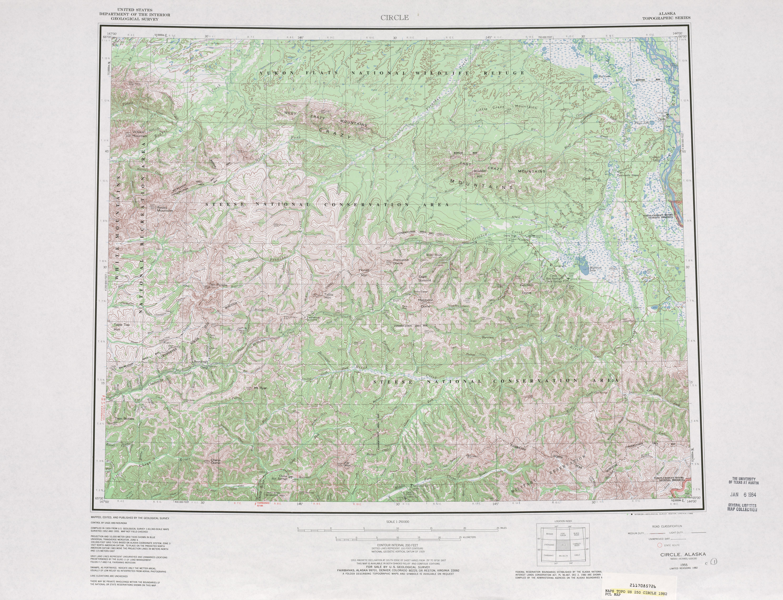 Hoja Circle del Mapa Topográfico de los Estados Unidos 1982