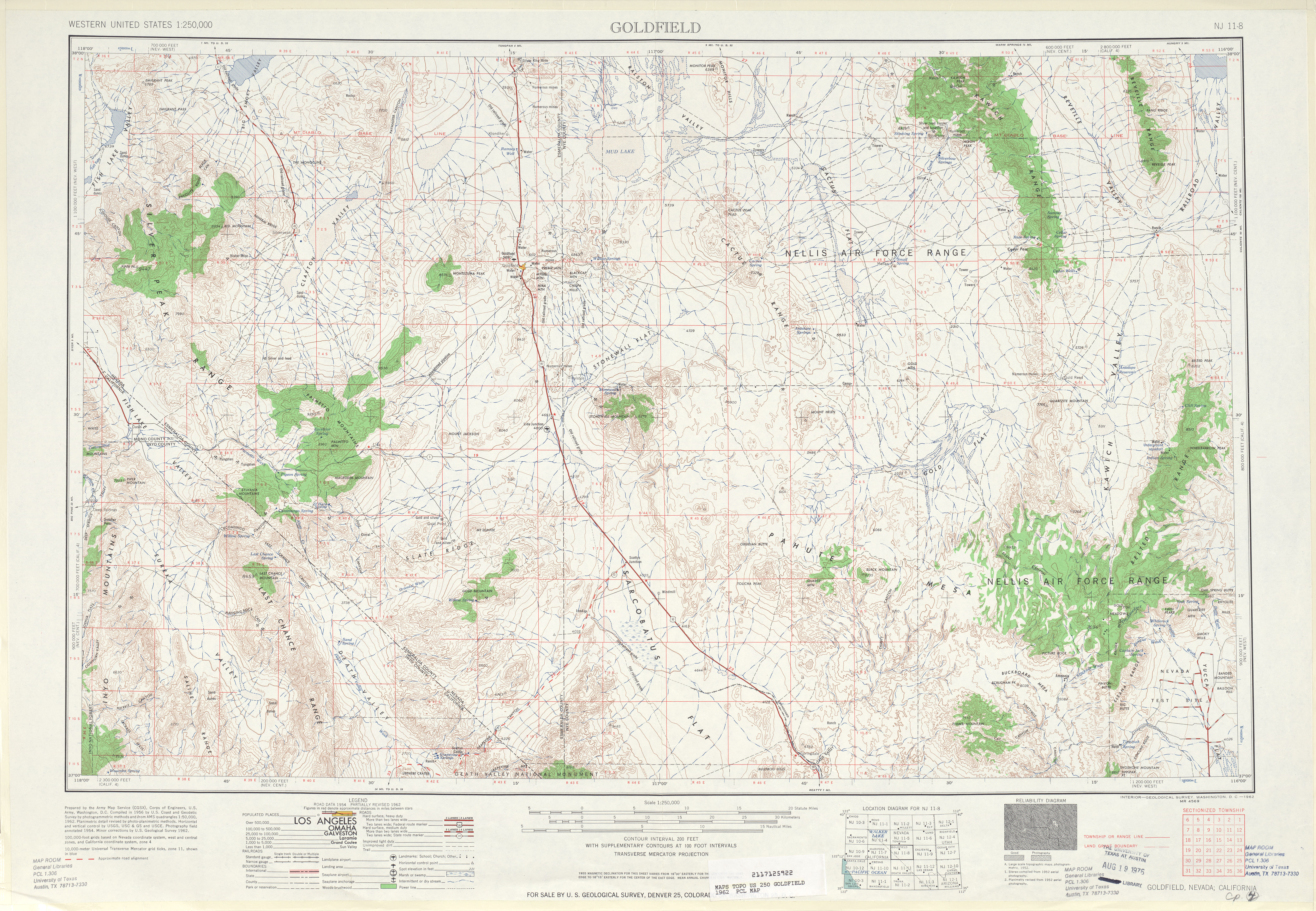 Goldfield Topographic Map Sheet, United States 1962