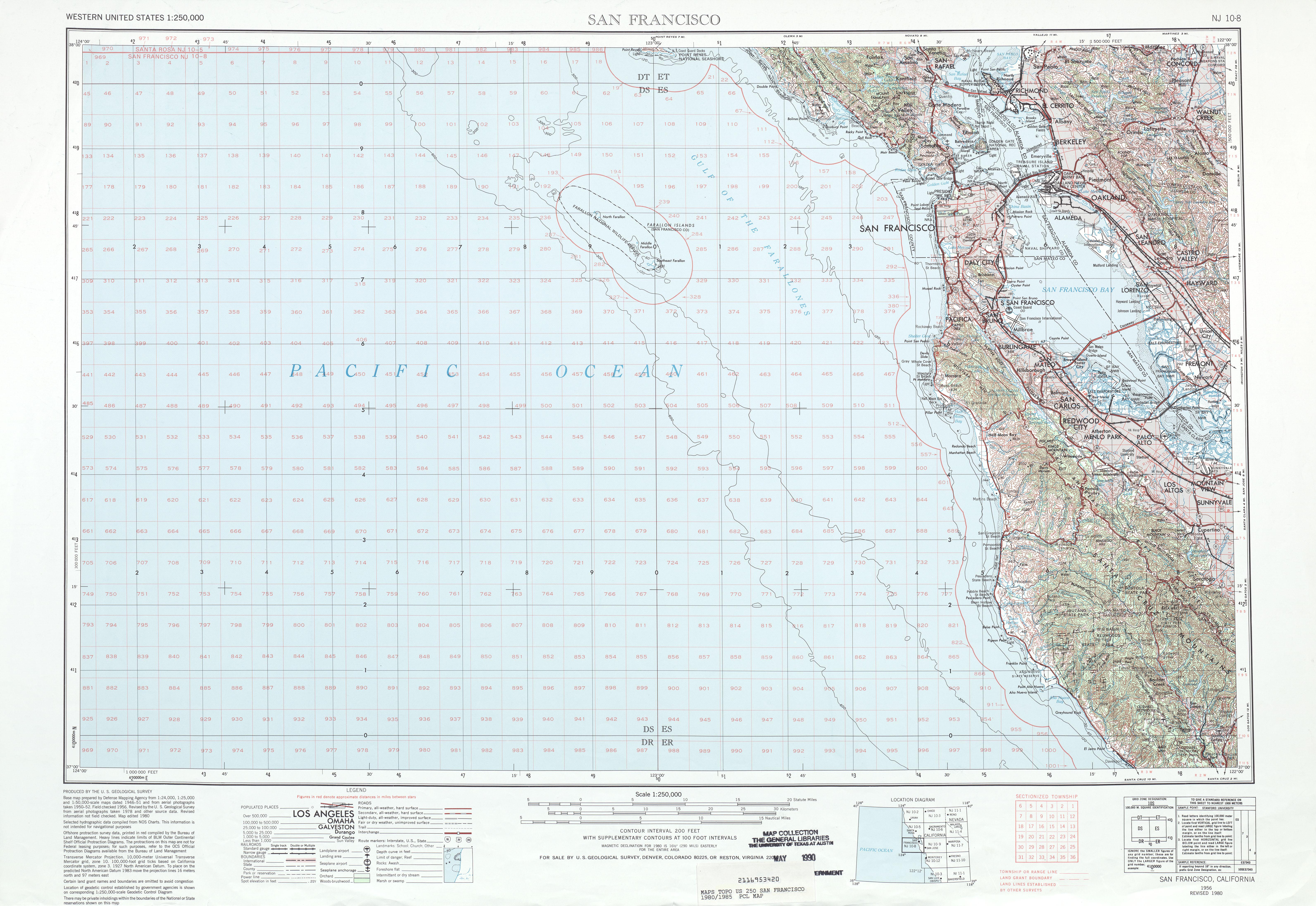 Hoja San Francisco del Mapa Topográfico de los Estados Unidos 1980