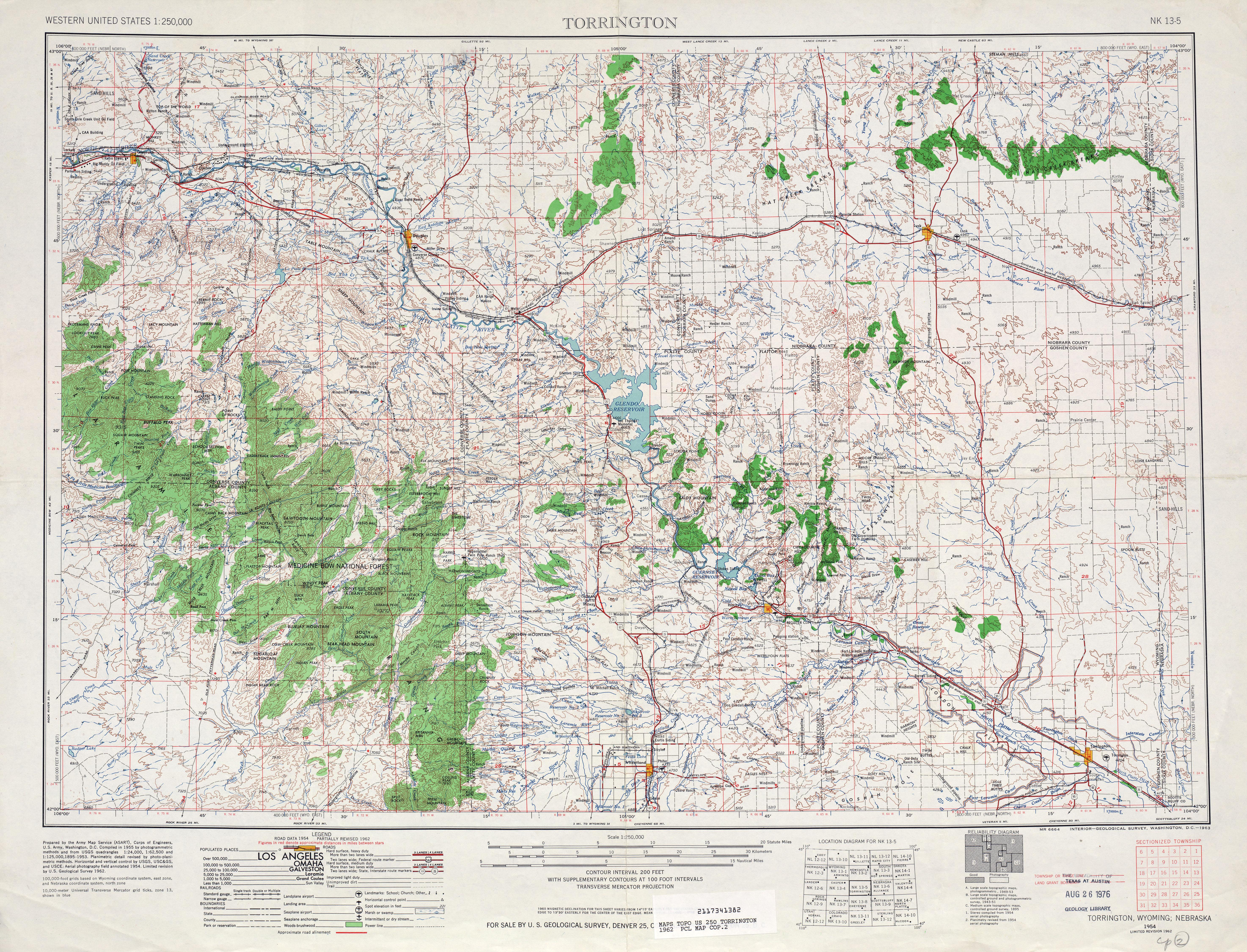 Hoja Torrington del Mapa Topográfico de los Estados Unidos 1962