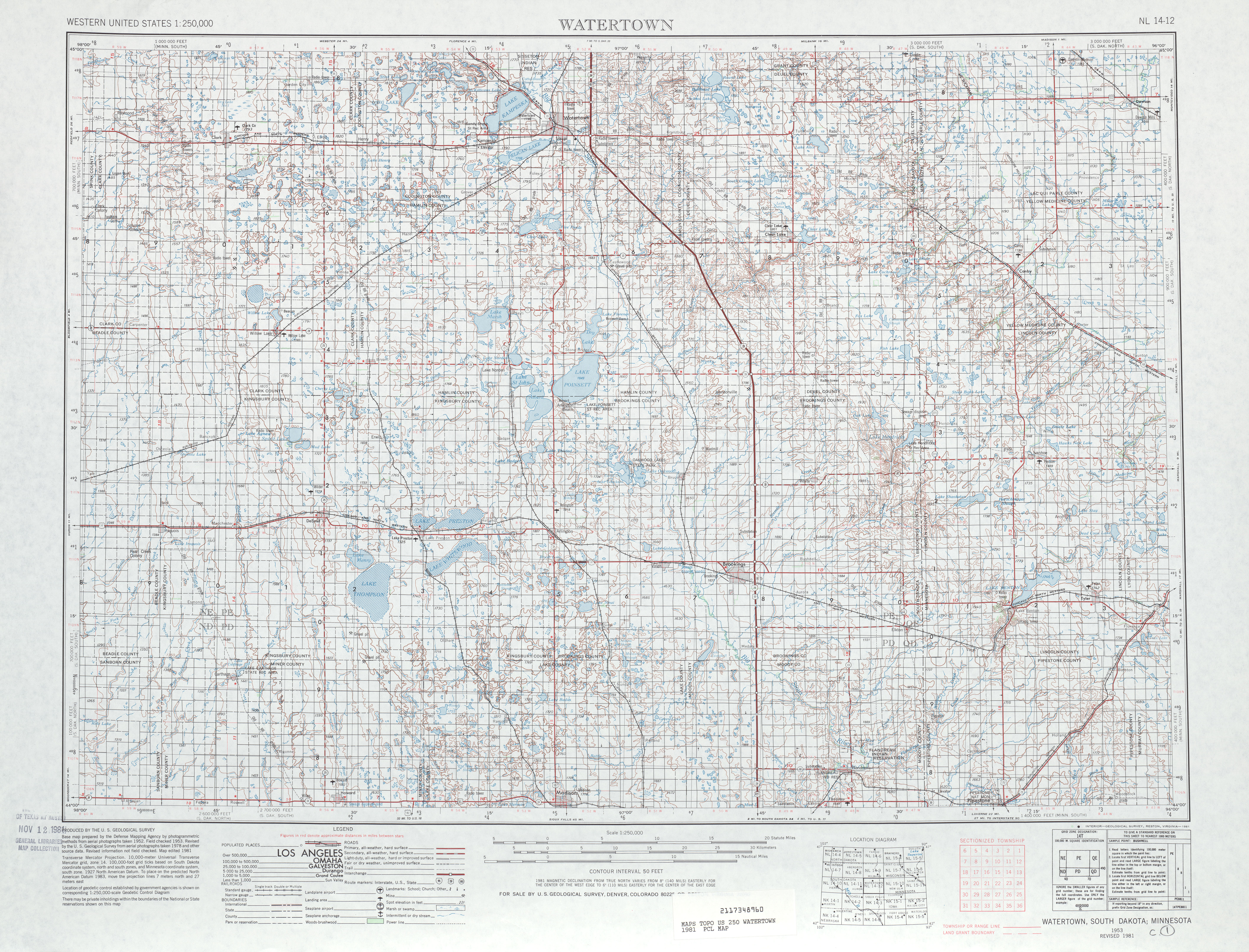 Watertown Topographic Map Sheet, United States